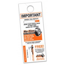 "Custom Mirror Hang Tags w/Perforated Tabs - 4-1/4"" x 11"" (Package of 250)"