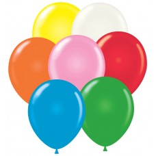 Stock Non-Printed 11 Inch Latex Balloons (Package of 100)