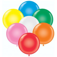 Stock Non-Printed 17 Inch Latex Balloons (Package of 72)