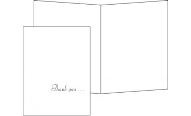 Thank You Cards, Blank