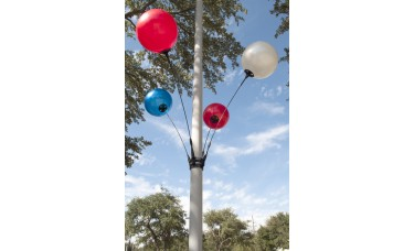 Seamless Reusable Balloon Light Pole Kit - 4 Balloon