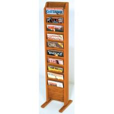 Solid Oak Display Rack (10 Pockets)