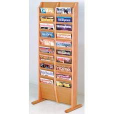 Solid Oak Display Rack (20 Pockets)