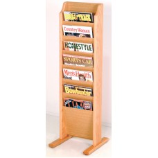 Solid Oak Display Rack (7 Pockets)