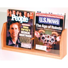 Counter Top Magazine Rack 18 1/2 in. W x 7 1/2 in. H x 4 in. D