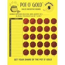 Pot O' Gold Sales Incentive Game Board