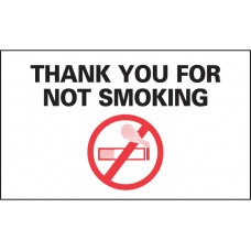 No Smoking Static Cling Reminders (Package of 100)