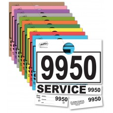 Colored 4-Part Service Dispatch Numbered Hang Tags (Package of 1000)