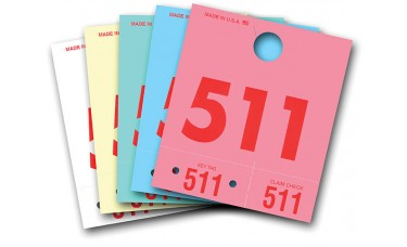 3 Digit Colored Service Dispatch Numbered Hang Tags (Box of 1000)