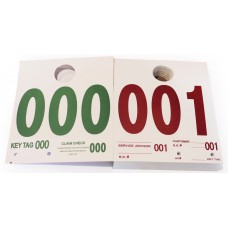 Extra Heavy Duty Service Dispatch Numbered Hang Tags (Box of 1000)