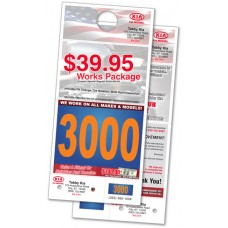 "Custom Printed Dispatch Advertising Hang Tags - 5-1/2"" x 11-3/4"" (Box of 1000)"