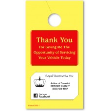 Thank You Service Mirror Hang Tags (Package of 250)
