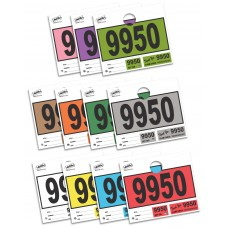 Colored Block 3-Part Service Dispatch Numbered Hang Tags (Package of 1000)