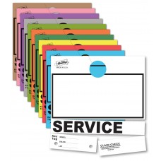 Blank Colored 4-Part Service Dispatch Hang Tags (Package of 1000)
