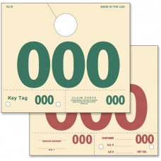 Service Dispatch Numbered Hang Tags (Box of 1000)