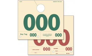Manila Service Dispatch Numbered Hang Tags (Package of 1000)