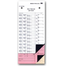 Carbonless Job Time Tickets 9 3/4 in. x 4 1/4 in. - 12 Flags (Package of 250)