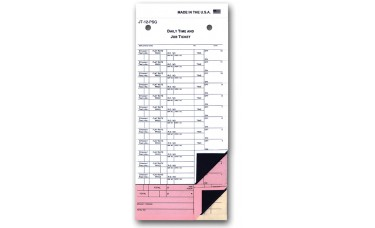 Job Time Tickets 9 3/4 in. x 4 1/4 in. - 12 Flags (Package of 250)