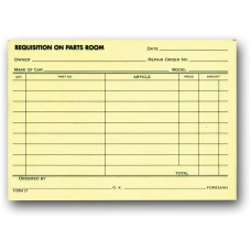 Requisition On Parts Room Forms (Package of 100)