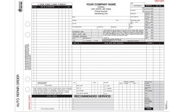 Repair Order Forms - 4-Part Carbonless - Custom (Package of 250)
