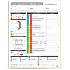 Kia Multi Point Inspection Form - Custom (Package of 500)