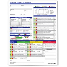 Vehicle Inspection Form - Stock (Package of 250)