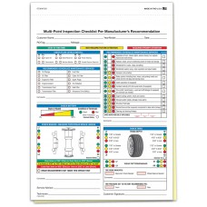 Multi Point Inspection Form - Stock (Package of 250)