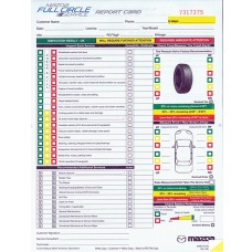 Mazda Multi Point Inspection Form - Stock (Package of 250)