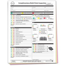 Nissan Multi Point Inspection Form - Custom (Package of 500)