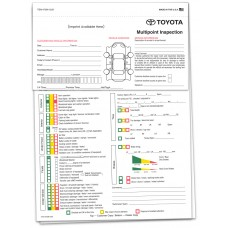 Toyota Multi Point Inspection Form - Custom (Package of 500)