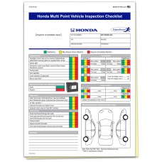 Honda Multi Point Inspection Form - Custom (Package of 500)