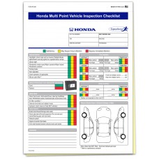 Honda Multi Point Inspection Form - Stock (Package of 250)