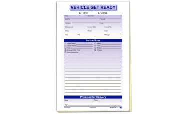 Vehicle Get Ready Forms (Package of 100)