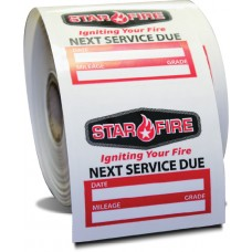 Custom Write-On Oil Change Sticker Roll Labels (Light Adhesive)