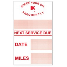 Generic Write-On Oil Change Static Cling Stickers (Package of 100)