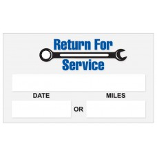"Generic Write-On ""Return For Service"" Static Cling Stickers (Package of 100)"