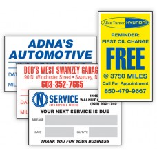 Custom Write-On Oil Change Stickers, Static Cling or Light Adhesive (Package of 1000)