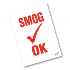 Smog Check Decals (Red & White)