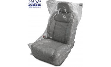 .7 Mil Thick Slip-N-Grip® Premium Plastic Disposable Seat Covers (Box or Roll of 250)