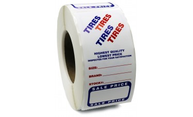 "Tire Advertising Labels - 3"" x 6"" (Roll of 500)"
