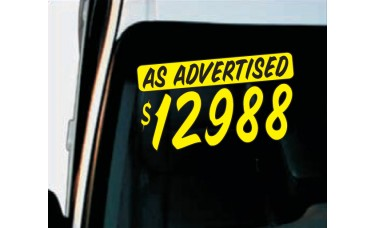 Casual Text Bar Car Graphics