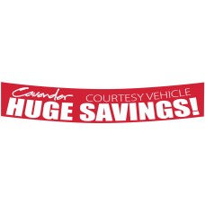 Custom Screen Printed Windshield Broadcaster Slogan Stickers