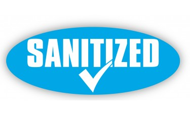 Sanitized Oval Car Windshield Stickers