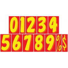 11 1/2 in. Red & Yellow Adhesive Windshield Numbers