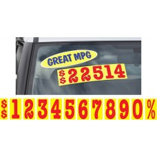 5 1/2 in. Red & Yellow Adhesive Windshield Numbers