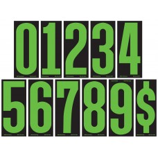 5 1/2 in. Fluorescent Chartreuse & Black Adhesive Windshield Numbers