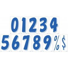 7 1/2 in. Blue & White Adhesive Windshield Numbers