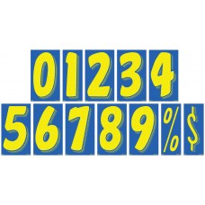 7 1/2 in. Blue & Yellow Adhesive Windshield Numbers