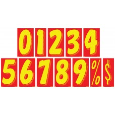 7 1/2 in. Red & Yellow Adhesive Windshield Numbers