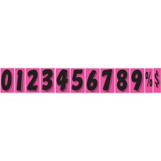 7 1/2 in. Fluorescent Hot Pink & Black Adhesive Windshield Numbers